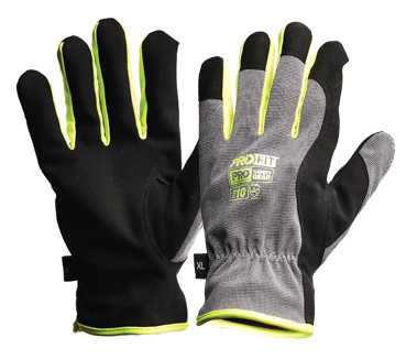 Gloves PRO-FIT RIGGAMATE Silver Synthetic Leather