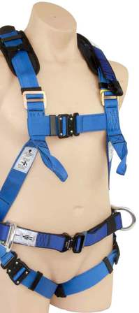 Full Body Harness Waist Belt D-Rings Lower Chest Loops Quick Release Buckles SBE4KQR