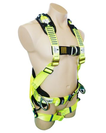 Full Body Harness Padded Waist Belt D-Rings Confined Space Loops SBE7