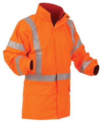 Bison Jacket Polar Fleece Lined Orange TTMC-W