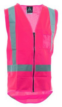 Safety Vest Hi Viz Day Night Pink