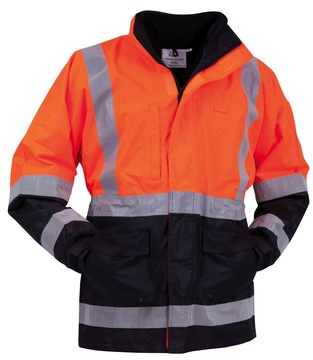 Bison Stamina Jacket Day Night Orange Navy