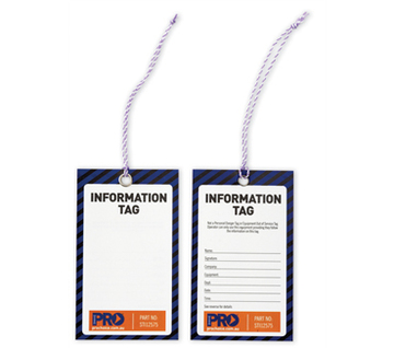 Information (Blank) Safety Tags 125mm x 75mm