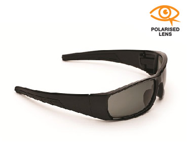 Glasses Safety Y Series Matt Black Frame Polarised Lens