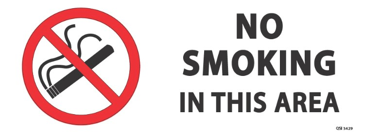 No Smoking 340x120mm