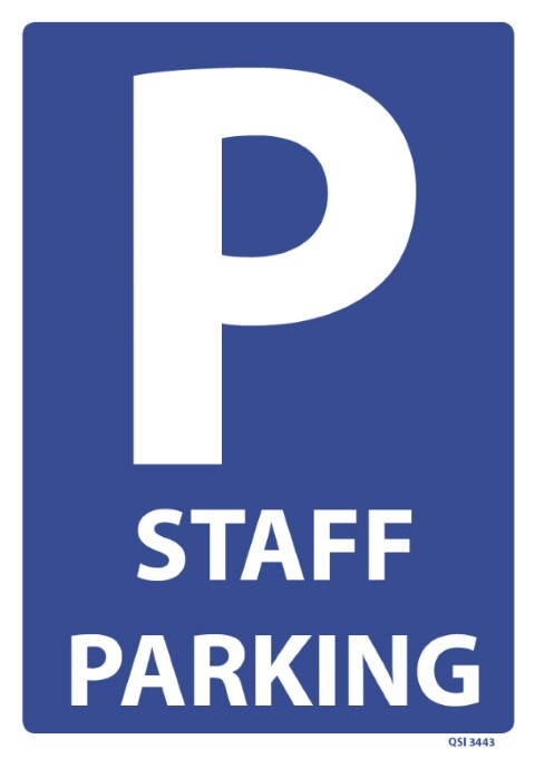 Staff Parking 240x340mm