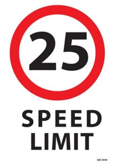 Speed Limit 340x240mm