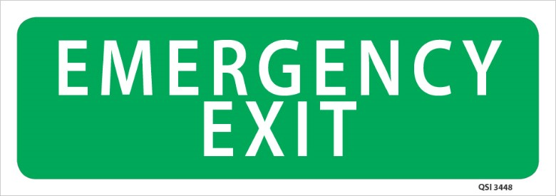 Emergency Exit 340x120mm