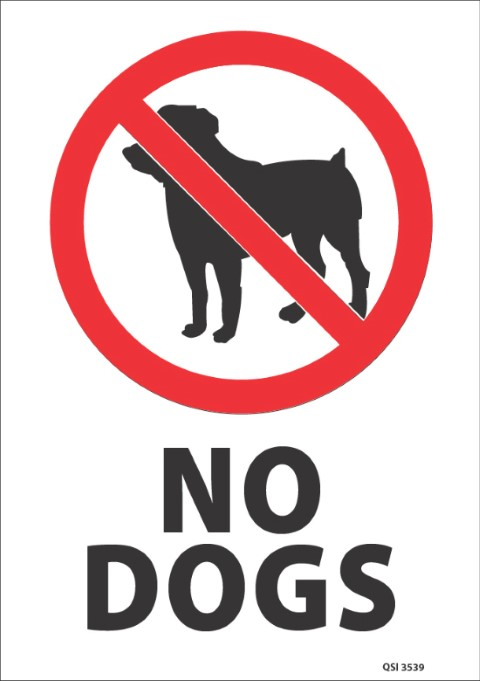 No Dogs 340x240mm
