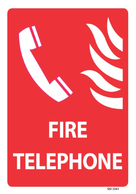 Fire Telephone 340x240mm