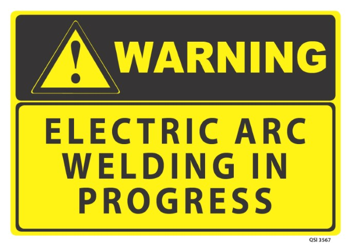 Warning Electric Arc Welding 340x240mm
