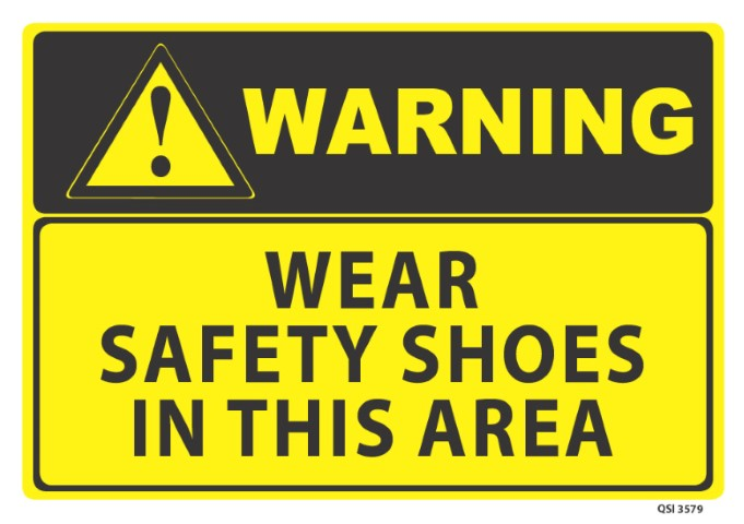 Warning Wear Safety Shoes 340x240mm