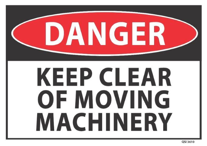 Danger Keep Clear of Moving Machinery 340x240mm
