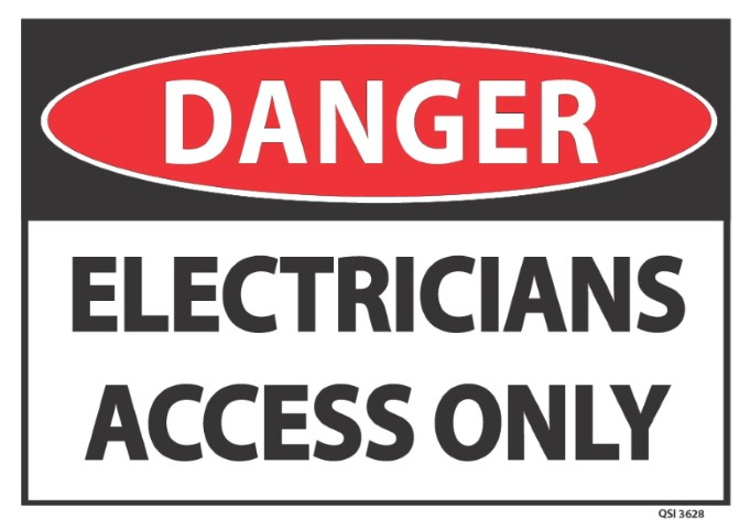 Danger Electricians Access Only 340x240mm