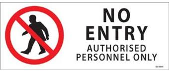 No Entry 450x180mm