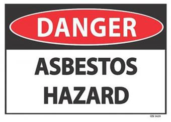 Danger Asbestos Hazard 340x240mm