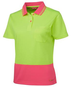 Ladies Hi Vis S/S Comfort Polo-Select Colour