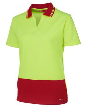 Hi Vis Ladies S/S Non Button Polo-Select Colour