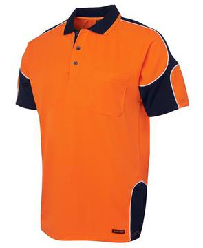 Hi Vis S/S Arm Panel Polo-Select Colour