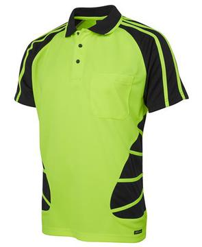 Hi Vis S/S Spider Polo-Select Colour