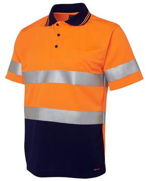 Hi Vis S/S (D+N) Traditional Polo-Select Colour