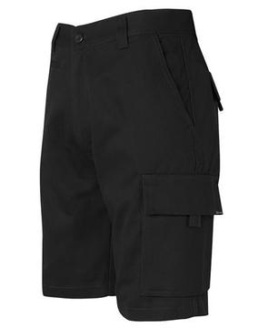 Mercerised Work Cargo Shorts Black