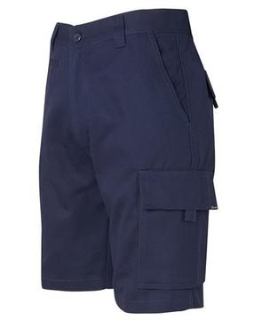 Mercerised Work Cargo Shorts Navy