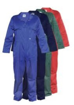 Poly-Cotton Zip Front Overall