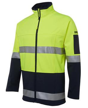 Hi Vis (D+N) Softshell Jacket Lime Navy