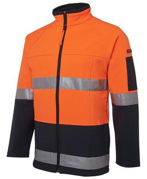 Hi Vis (D+N) Softshell Jacket Orange Navy