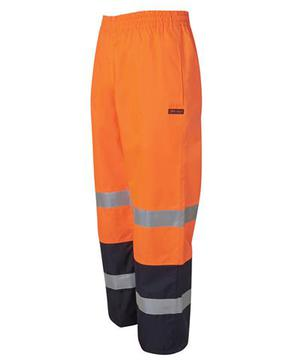 Hi Vis (D+N) Premium Rain Pant Orange Navy
