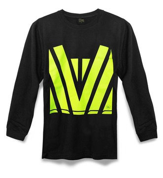 Hi-Vis T-Shirt Long Sleeve Black Yellow