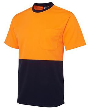 Hi Vis Traditonal T-Shirt Orange Navy