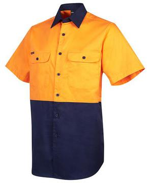 Hi Vis S/S Shirt Orange Navy