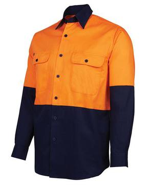 Hi Vis L/S  Shirt - Select Colour