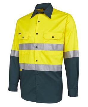 Hi Vis L/S (D+N) 150G Work Shirt - Select Colour