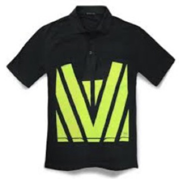 Hi Vis Polo Black Yellow