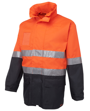 Hi Vis (D+N) Long Line Jacket Orange Navy