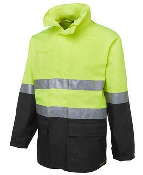 Hi Vis (D+N) Long Line Jacket Lime Black