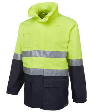 Hi Vis (D+N) Long Line Jacket Lime Navy