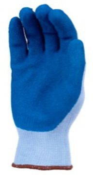 Gloves, Sure Grip Blue Latex Crinkle Finish