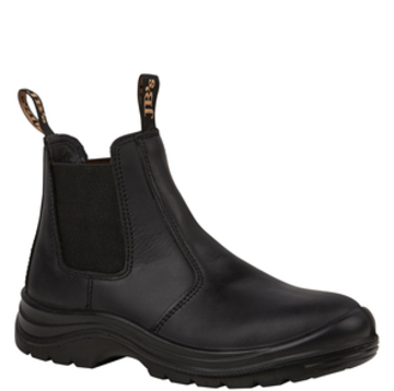 JB's Elastic Sided Safety Boot Black