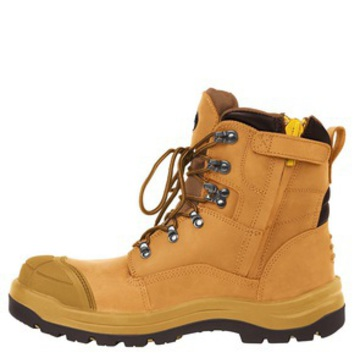 JB's Side Zip Boot Lace Up Wheat