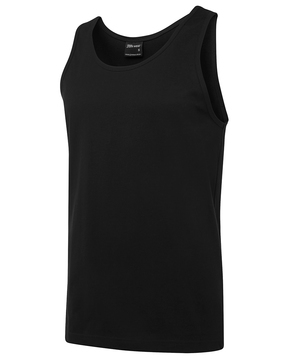 JB's 100% Cotton Singlet Black