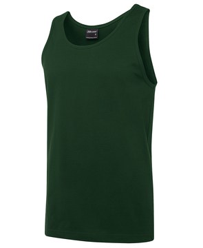JB's 100% Cotton Singlet Army Green