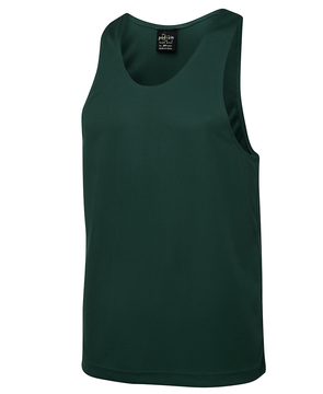 JB's Poly Singlet Bottle Green