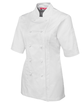 JB's Ladies Short Sleeve Chefs Jacket - Select Colour