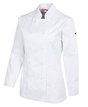 JB's Ladies Long Sleeve Vented Chefs Jacket White