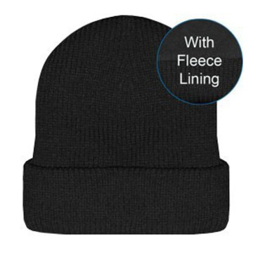 Acrylic Roll-Up Beanie Black