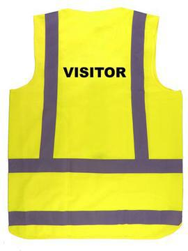 Safety Vest Printed Hi Viz Day Night Lime